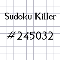 Sudoku assassino №245032