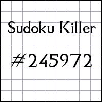 Sudoku assassino №245972