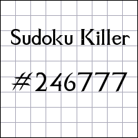 Sudoku assassino №246777