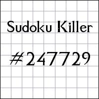Sudoku assassino №247729