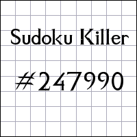 Sudoku assassino №247990