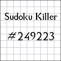 Sudoku assassino №249223