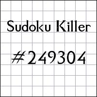 Sudoku assassino №249304