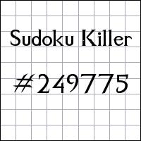 Sudoku assassino №249775