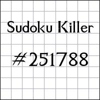 Sudoku assassino №251788
