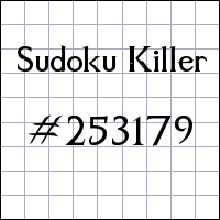 Sudoku assassino №253179