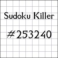 Sudoku assassino №253240