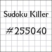 Sudoku assassino №255040