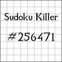 Sudoku assassino №256471