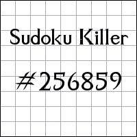 Sudoku assassino №256859