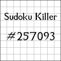 Sudoku assassino №257093