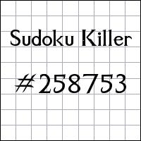 Sudoku assassino №258753