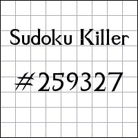 Sudoku assassino №259327