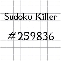 Sudoku assassino №259836