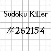 Sudoku assassino №262154