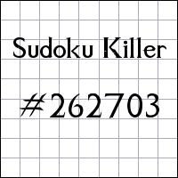 Sudoku assassino №262703