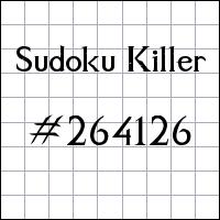 Sudoku assassino №264126