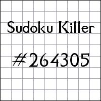 Sudoku assassino №264305