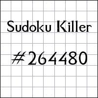Sudoku assassino №264480