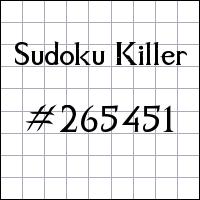 Sudoku assassino №265451