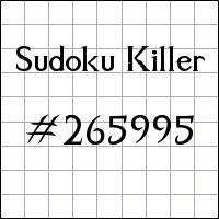Sudoku assassino №265995