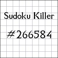 Sudoku assassino №266584