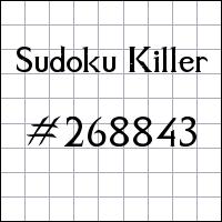 Sudoku assassino №268843