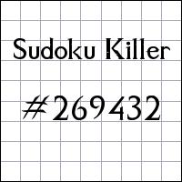 Sudoku assassino №269432