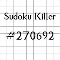 Sudoku assassino №270692