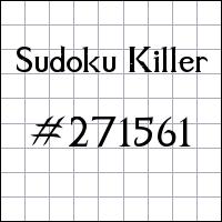 Sudoku assassino №271561