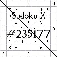Sudoku X №235177
