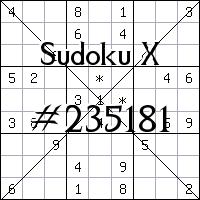 Sudoku X №235181