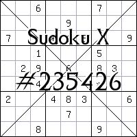 Sudoku X №235426