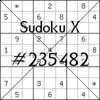 Sudoku X №235482