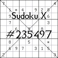 Sudoku X №235497