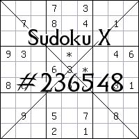 Sudoku X №236548