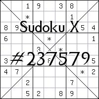 Sudoku X №237579