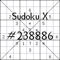 Sudoku X №238886