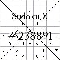 Sudoku X №238891