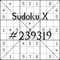 Sudoku X №239319