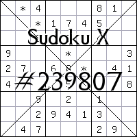 Sudoku X №239807
