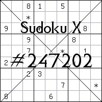 Sudoku X №247202