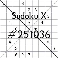 Sudoku X №251036