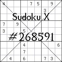 Sudoku X №268591