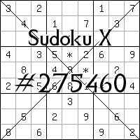 Sudoku X №275460