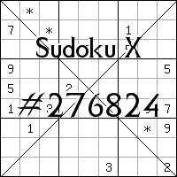 Sudoku X №276824
