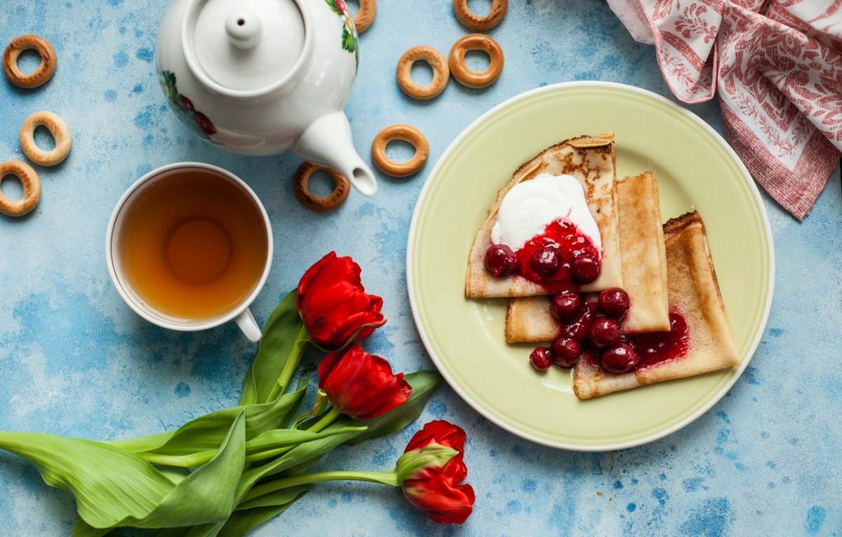 O quebra-cabeça Recolher o quebra-cabeças on-line - Pancakes with jam