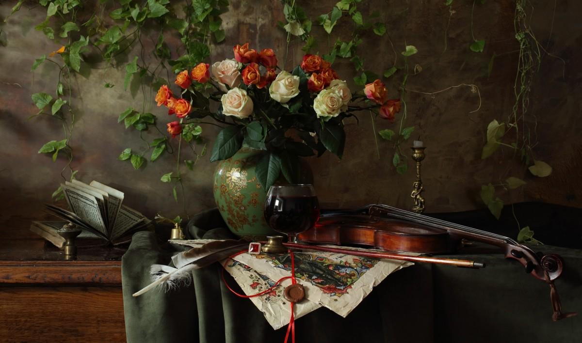 O quebra-cabeça Recolher o quebra-cabeças on-line - Bouquet and glass