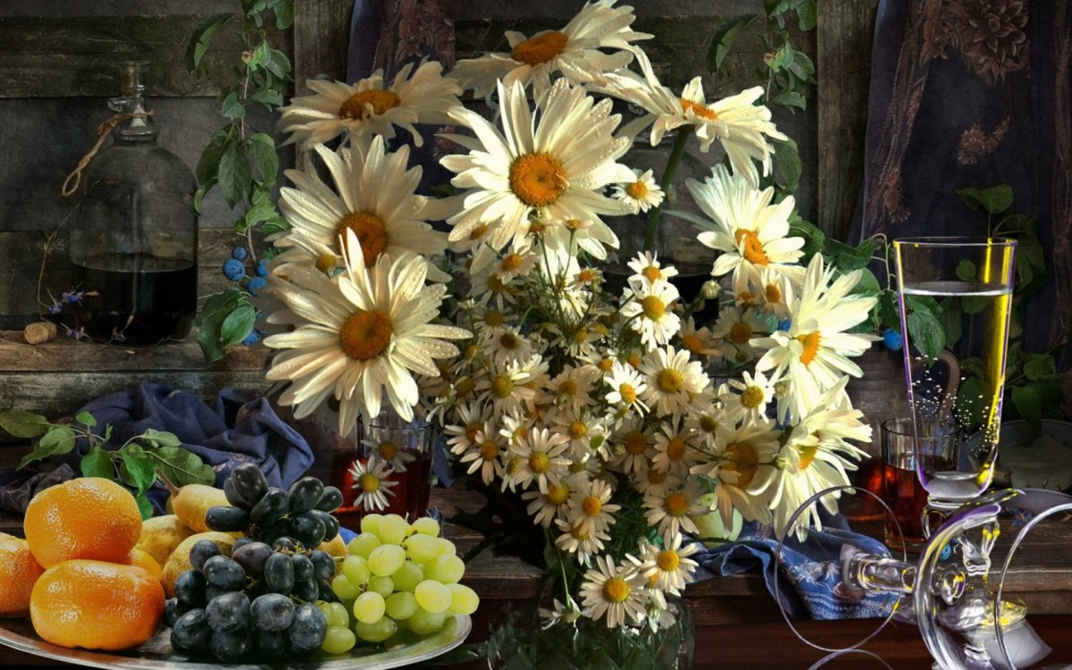 O quebra-cabeça Recolher o quebra-cabeças on-line - A bouquet of daisies