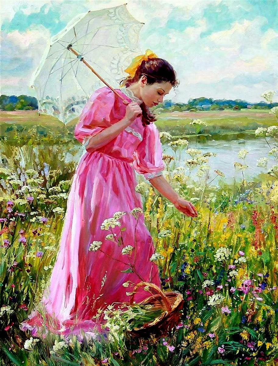 O quebra-cabeça Recolher o quebra-cabeças on-line - The girl in the meadow